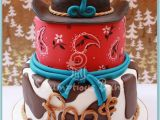 Cowboy Birthday Cake Decorations Giddy Up for these Rootin 39 tootin 39 Cowboy Cake and Cupcake