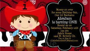 Cowboy First Birthday Invitations Cowboy Birthday Invitation 1st Birthday Cowboy Party