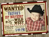 Cowboy Invites Birthday Cowboy Birthday Party Invitation Photo Option