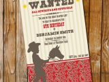 Cowboy Invites Birthday Little Cowboy Birthday Party Invitation Only Instantly