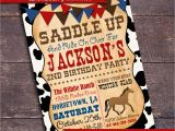 Cowboy Invites Birthday Printable Cowboy Party Invitation Western by Bloomberrydesigns