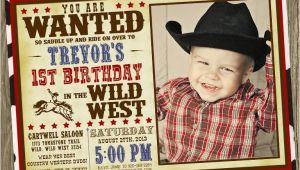 Cowboys Invitations Birthday Party Cowboy Birthday Party Invitation Photo Option