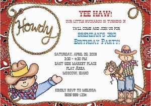 Cowgirl Birthday Invitation Wording Cowboy Invitation Template orderecigsjuice Info