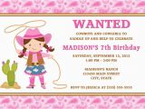 Cowgirl Birthday Invitation Wording Cowgirl Birthday Invitations Ideas Bagvania Free