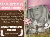 Cowgirl Birthday Invitation Wording Cowgirl Birthday Party Invitations Template Best