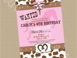 Cowgirl Birthday Invitation Wording Cowgirl Birthday Party Printable Invite Printable by