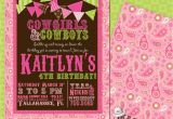 Cowgirl Birthday Invitation Wording Diy Printable Doublesided Cowgirl Birthday Invitations