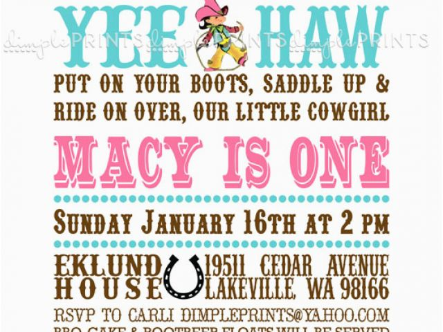 Download By SizeHandphone Tablet Desktop Original Size Back To Cowgirl Birthday Invitation Wording