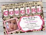 Cowgirl Birthday Invites Cowgirl Birthday Invitation 1st Birthday or Any Age Pink and