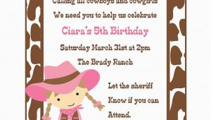 Cowgirl Birthday Invites Cowgirl Birthday Invitation Digital File Cowgirl