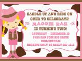 Cowgirl Birthday Invites Cowgirl Birthday Party Invitations Bagvania Free