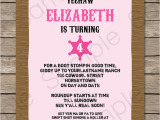 Cowgirl Birthday Invites Cowgirl Party Invitations Template Birthday Party