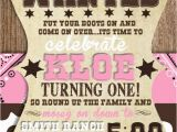 Cowgirl Birthday Invites Custom Cowgirl First Birthday Invitation