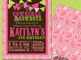 Cowgirl Birthday Invites Diy Printable Doublesided Cowgirl Birthday Invitations