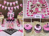 Cowgirl Decorations for Birthday Party Kara 39 S Party Ideas Cowgirl Western Girl 5th Birthday Party