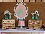 Cowgirl Decorations for Birthday Party Pink and Aqua Cowgirl themed Birthday Party Pizzazzerie