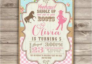 Cowgirl Themed Birthday Invitations Cowgirl Invitation Cowgirl