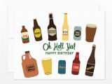 Craft Beer Birthday Card Oh Hell Yes Birthday Beers Greeting Card Craft Beer Lover