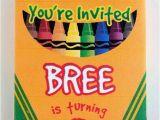 Crayon Birthday Invitations 19 Creative Crayola Crayon Party Ideas Spaceships and