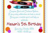 Crayon Birthday Invitations Art Party Invitations Crayon Invitations by