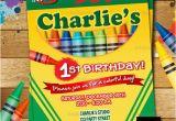 Crayon Birthday Invitations Crayon Birthday Invitation Crayon Party Invitation Crayola