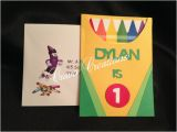 Crayon Birthday Invitations Crayon Birthday Invitation