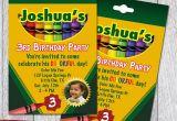 Crayon Birthday Invitations Crayon Box Printable Party Invitations