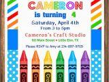 Crayon Birthday Invitations Items Similar to Crayon Birthday Invitation Painting
