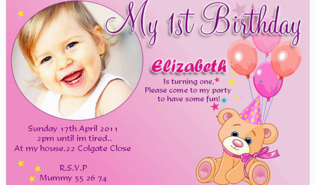 Download By SizeHandphone Tablet Desktop Original Size Back To Create 1st Birthday Invitation Card For Free