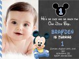 Create 1st Birthday Invitation Card for Free Free Printable Mickey Mouse 1st Birthday Invitations