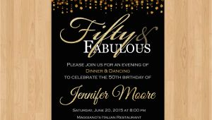 Create 50th Birthday Invitations Free