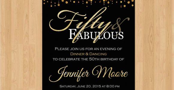 Create 50th Birthday Invitations Free Tips Easy to Create 50th Birthday Invitations Beauteous