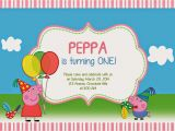 Create A Birthday Invite Online Free Create Peppa Pig Birthday Invitations Templates with