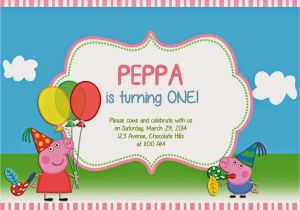Create A Birthday Invite Online Free Peppa Pig Invitations Templates With