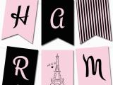 Create A Happy Birthday Banner Free Paris Pennant Banner Birthday Banderines De Cumpleanos