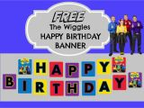Create A Happy Birthday Banner Free the Wiggles Happy Birthday Banner How to Make with Free