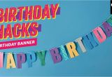Create A Happy Birthday Banner How to Make A Quot Happy Birthday Quot Banner Using Washi Tape