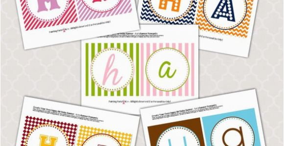 Create A Happy Birthday Banner Items Similar to Happy Birthday Banner Create Your Own