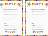 Create and Print Birthday Invitations Printable Birthday Invitation Printable Birthday