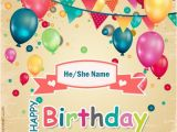 Create Birthday Card Online with Name Edit Happy Birthday Wishes Cake Pictures for Brother