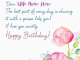 Create Birthday Card Online with Name Wife Birthday Wishes Name Greeting Card Pictures Create
