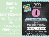 Create Birthday Invitation Free How to Create An Invitation In Picmonkey