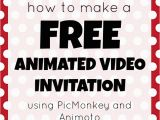 Create Birthday Invitation Video How to Make A Free Animated Video Invitation Mad In Crafts