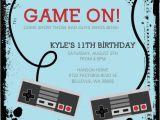 Create Birthday Invitation Video Video Game Birthday Invitations Ideas Bagvania Free