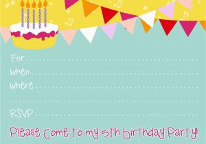 Create Birthday Party Invitations Online Free Make Your Own Template Resume