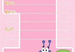 Create First Birthday Invitations Online Free 1st Invitation Template Printable