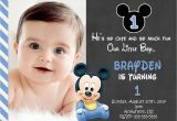 Create First Birthday Invitations Online Free Free Printable Mickey Mouse 1st Birthday Invitations