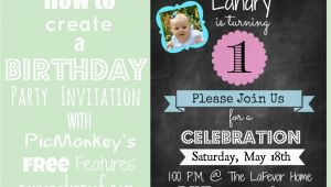 Create Free Birthday Invitations How to Create An Invitation In Picmonkey
