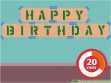 Create Happy Birthday Banner 5 Ways to Make A Birthday Banner Wikihow