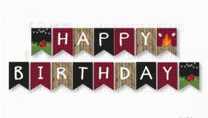 Create Happy Birthday Banner Online Free Camping Birthday Banner Instant Download Happy Birthday